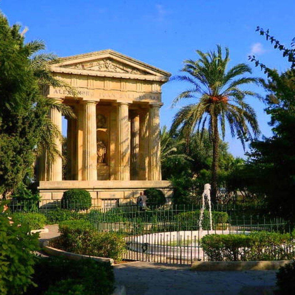 I meravigliosi giardini di Barrakka a La Valletta.