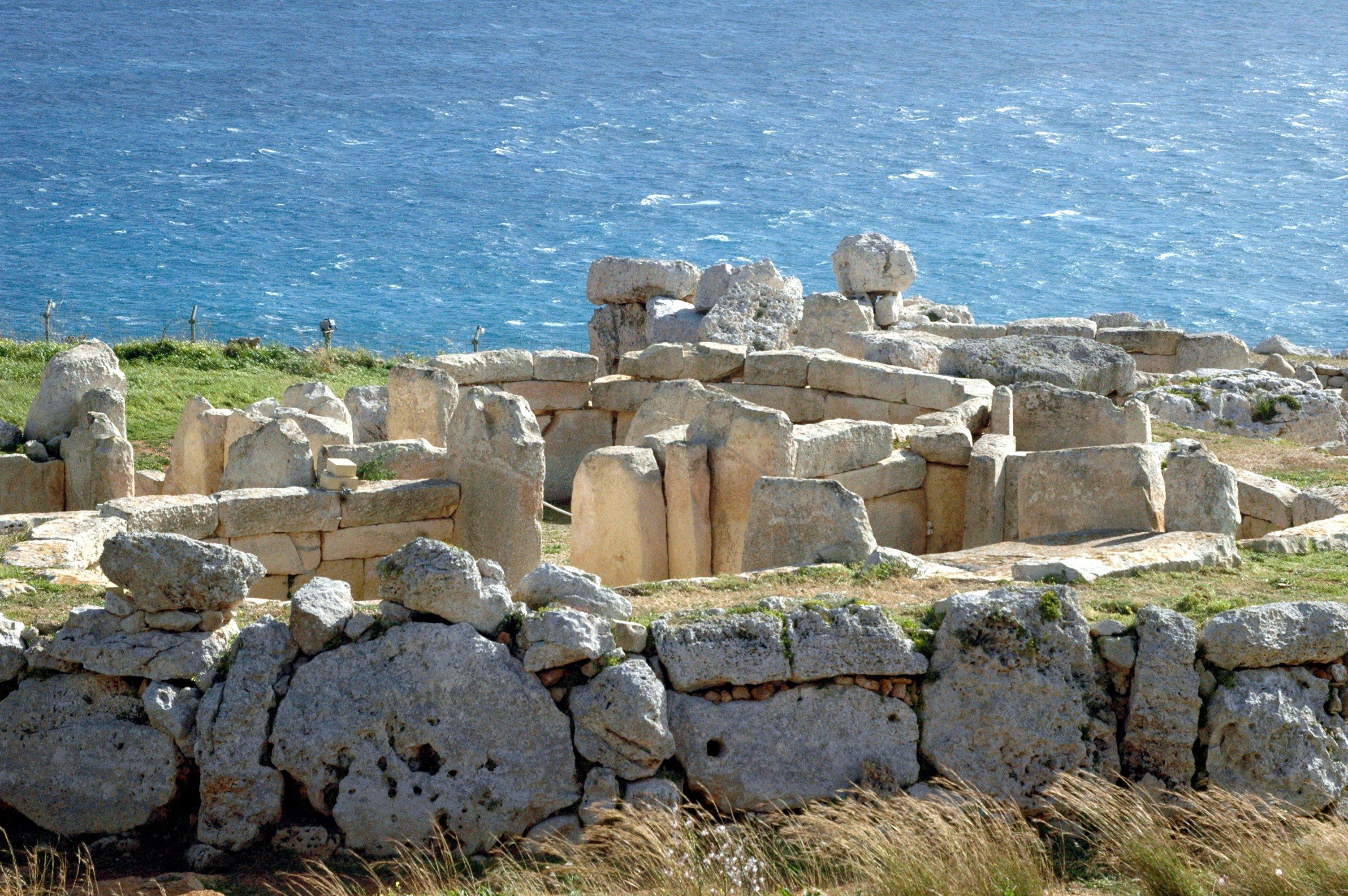 I templi megalitici di Malta, patrimonio dell'Unesco.